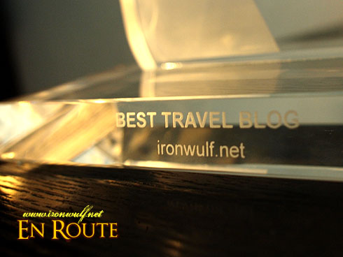 Nuffnang Asia-Pacific Blog Awards Best Travel Trophy