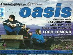 Oasis Loch Lomond 1996 (tcbuzz) Tags: tickets james scotland football edinburgh morrissey glasgow ticket oasis concerts loch lomond