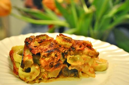 Barilla Tortellini eggplant parmesan