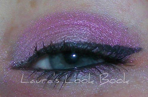 lovely lily and fuschia eye look