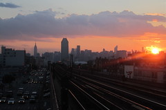 Queens Boulevard & 7 Train Tracks, Summer Sunset - Sunnyside Queens NYC (ChrisGoldNY) Tags: city nyc newyorkcity sunset summer urban usa newyork skyline architecture america canon subway poster skies forsale tracks powershot queens posters albumcover pointandshoot empirestatebuilding gothamist bookcover sunnyside citibank bookcovers 7train albumcovers cliuds qns nonslr challengewinners thechallengefactory chrisgoldny chrisgoldberg chrisgold chrisgoldphoto chrisgoldphotos