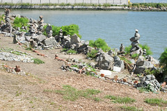 Rock City (panavatar) Tags: sanfrancisco art beach shoreline tirebeach warmwatercove rockpiles rockstacks thedogpatch rocktires