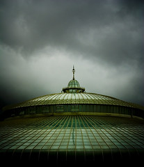 . The Emerald Palace And The Day Of Rain . (3amfromkyoto) Tags: glass rain clouds grey day palace emerald 3amfromkyoto
