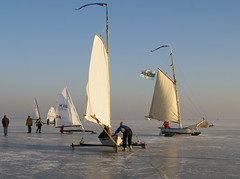 11 jan (MijnNaamisHaze/foto) Tags: winter 2009 monnickendam icesailing gouwzee ijszeilen