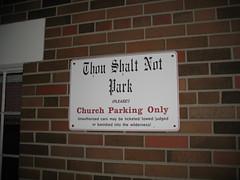 Thou Shalt Not Park