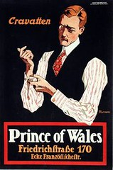 Prince of Wales mens fashion (1912) (Susanlenox) Tags: man fashion illustration vintage poster clothes mens plakat ropa corbatas caballero moden mansuit fritzrumpf gentelamn cravatten