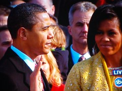 Obama Takes Oath, Michelle Obama Witnesses (bo mackison) Tags: 2009 inauguration barackobama abcnews michelleobama inauguration2009 inaugurationday2009 takingpresidentialoath