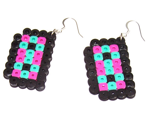 mixed tape earrings