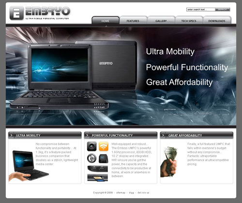 Embryo UMPC - Home Page