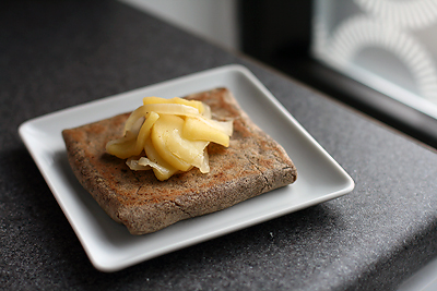 Buckwheat Crepes with Apples and Gruyere