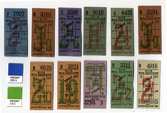 UK Bus Transfer Tickets (Howdy, I'm H. Michael Karshis) Tags: uk bus london ink vintage ticket retro number british transfer ephemeral registration workman workingman