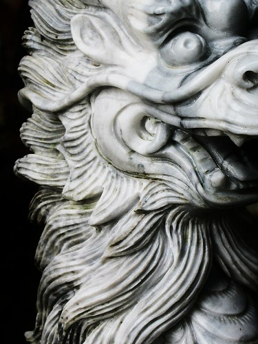 Dragon bust, Marble Mountain, Vietnam