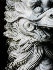 Dragon bust - Marble Mountain, Vietnam (lboogie) Tags: sculpture animal seasia southeastasia bestof dragon lion vietnam marble 2008 rtw marblemountain november2008 rtwbestof