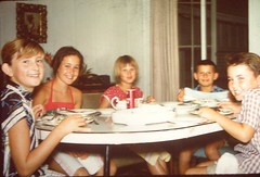 1959 Hawaii, our house, me, Penny, Jenny, Pete & Stuart (emmdee) Tags:
