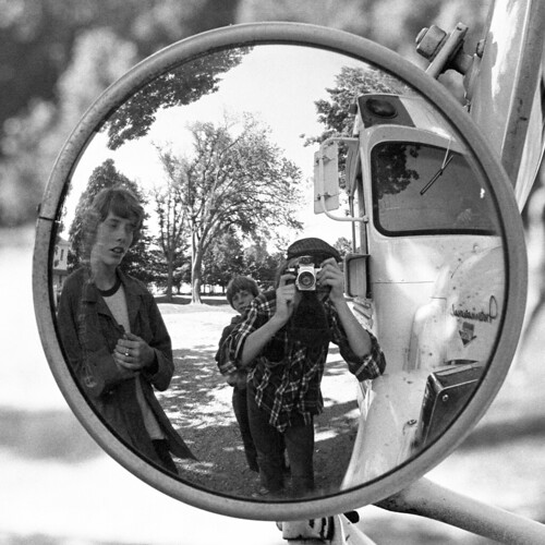 friends blackandwhite bw bus hat michigan trix 1975 archival flatcap retrome mirrorselfportrait pentaxh1 campalgonquian