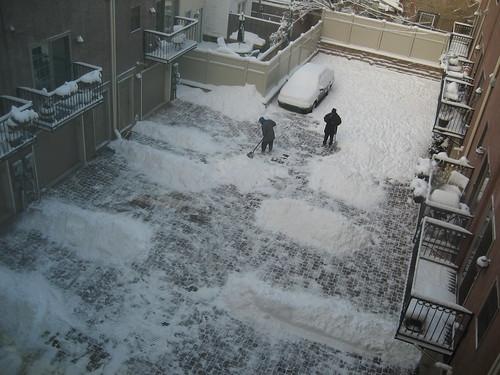 courtyard : Una instalación con la nieve !!