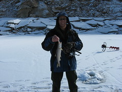 Me With a Gross Reservoir Lake Trout (fethers1) Tags: icefishing laketrout grossreservoir grossresevoir