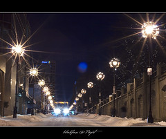 Halifax @ Night (Dave the Haligonian) Tags: winter snow canada storm lights novascotia nightshot nighttime nightscene halifax starburst barringtonstreet nikkor50mm18d halifaxnight nikond90 dsc2514nef