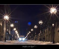Halifax @ Night (Dave the Haligonian) Tags: winter snow canada storm lights novascotia nightshot nighttime nightscene halifax starburst barringtonstreet nikkor50mm18d halifaxnight nikond90 dsc2514nef