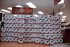 Trader Joe's: Giant wall o' Charles Shaw &quot...