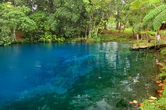 Blue hole (msdstefan) Tags: pictures ocean trip travel blue vacation panorama sun holiday sol praia beach strand landscape island coast soleil pond sand pacific pics urlaub bank playa nikond50 best insel southpacific ufer landschaft sonne plage rtw isla zon spiaggia nicest bluehole kste vanuatu oceania melanesia pazifik ozean espiritusanto ammeer sdpazifik  ozeanien  landschaftsbild  melanesien denizkys pazifischeinseln pazificislands