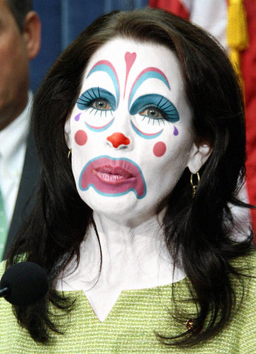 Michele Bachmann (Rep. R-MN):: Obstructionist Republican Clown by WMxdesign.