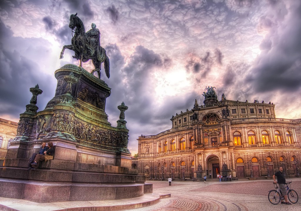 Relaxing in Dresden