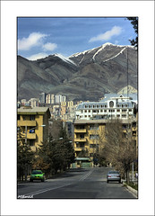 Clean Tehran! (M@mad) Tags: street winter mountain snow weather raw iran clean tehran hdr samand alborz   singlefile        shahrakgharb
