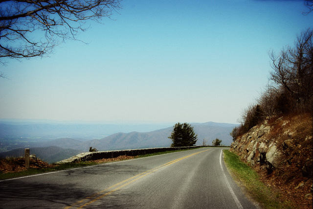 Milepost 39 on the Skyline Drive