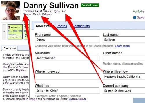 Adding Job Title, Location To Google Profiles