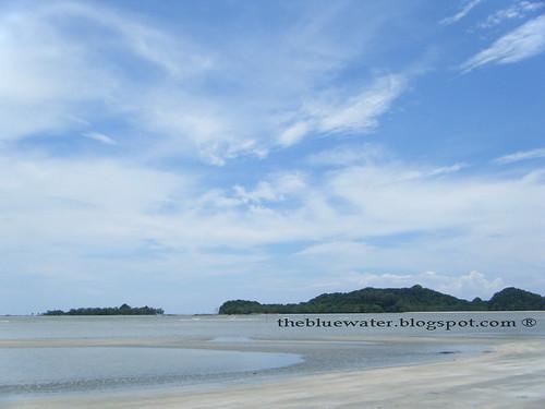 Telok Sari low tide