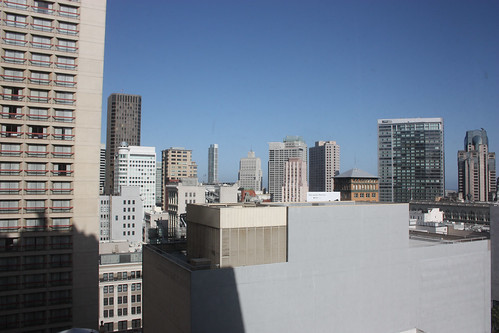 View from our Hotel Room at the Drake San Francisco