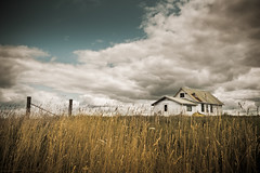 Letting Go of the Past (Loren Zemlicka) Tags: old summer sky house abandoned field grass wisconsin clouds rural fence landscape photography photo midwest post image farm country picture july explore past frontpage canonef1740mmf4lusm dilapidated rundown disrepair canoneos5d flickrexplore flickrfrontpage lorenzemlicka