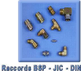Raccords BSP - JIC - DIN