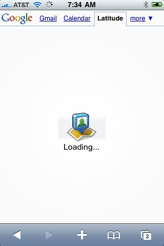 Loading Google Latitude For iPhone