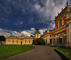 ~ Beautiful Sky At Wilanw Palace ~ (Peem (pattpoom)) Tags: sky architecture landscape nikon poland polska palace explore warsaw frontpage warszawa wilanow wilanw d700  nikkorafs1424mmf28ged