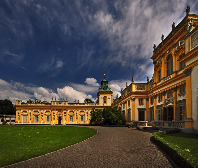 ~ Beautiful Sky At Wilanow Palace ~ by pattpoom
