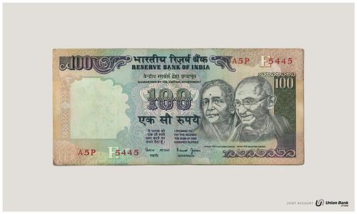 你拍攝的 union bank of india gandi。