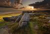 Summer Light on Stanage Edge (andy_AHG) Tags: sunset sky tourism clouds landscape outdoors evening rocks heather peakdistrict scenic darkpeak moorland gritstone stanageedge nikond200 ruralcountryside goldendiamondblog