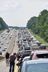 Massive Traffic Jam on I-95 South near Baltimore