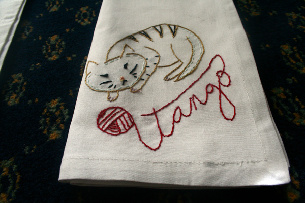 Tango the Cat Napkin
