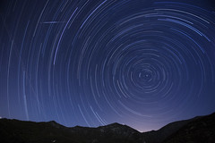 Perseid Meteor Shower Star Trails, Angeles Crest (Andrew Meyers Photography) Tags: road 2 summer sky moon mountain season shower star los big san angeles space north 15 august crest pole trail shooting astronomy annual palmdale concentric meteor circular asteroid celestial meteorite bernardino polaris victorville 215 tujunga leonid perseid orionid