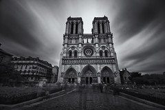 The ghosts of the Notre Dame (Guido Musch) Tags: longexposure blackandwhite paris france church notredame explore ghosts frankrijk kerk parijs langesluitertijd geesten guidomusch theforthphotoofanotredameipostonflickrfromthissummer