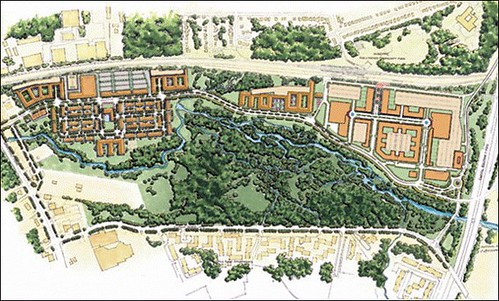 site plan for Greenbelt Metro Park (by: The Lessard Group)