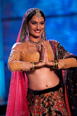 Miss India Universe Ekta Chowdhary on the ramp