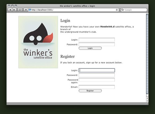 the winker's satellite office » login