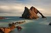 Bow Fiddle Rock (Pleasureprinciple2013) Tags: longexposure seascape beach scotland rocks day cloudy pebbles morayshire pleasureprinciple portknockie bowfiddlerock britishseascapes 110filter