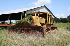 Retired D9 (dbro1206) Tags: abandoned mississippi rust mechanical tracks rusty equipment caterpillar machinery forgotten weathered dozer resting blade winch bulldozer decayed crawler d9 oldiron