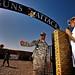 Welcoming actor Joe Pantoliano to Camp Taji, Iraq