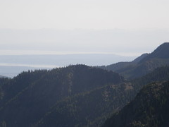 Views from Marmot Pass towards Hood Canal bridge.